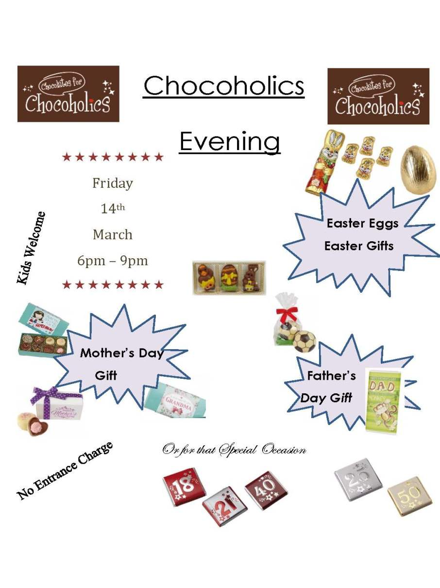 Chocoholics Evening Poster 2014