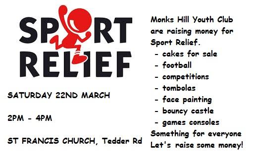 sport relief flyer