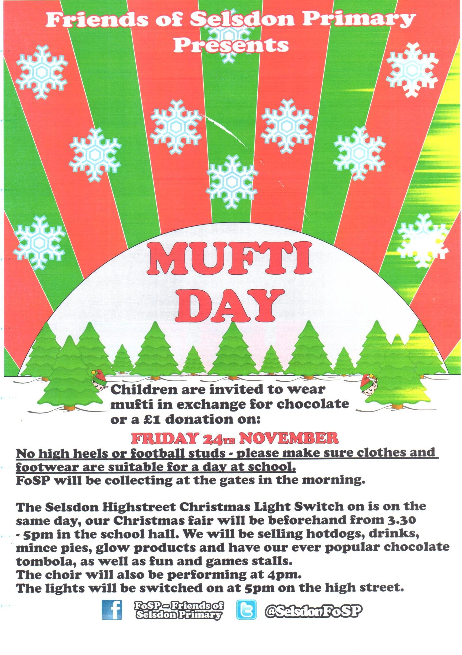 Fosp Mufti Day Friday 24 November In Exchange For