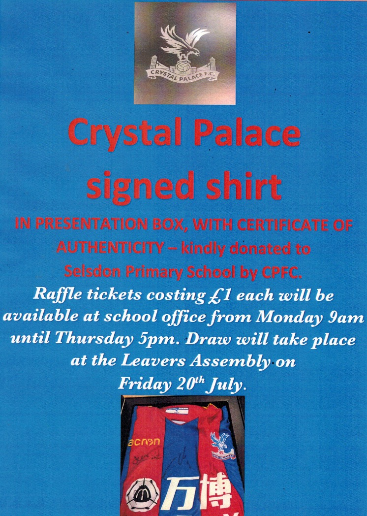 Crystal Palace Shirt Raffle 2018
